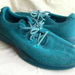 Allbirds Mens Teal Wool Runners